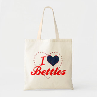 I Love Bettles, Alaska Tote Bags