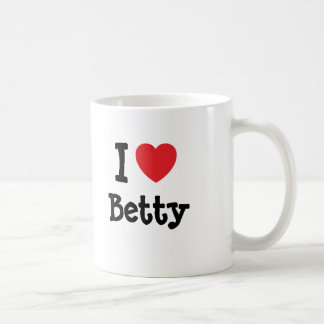 I love Betty heart T-Shirt Coffee Mug