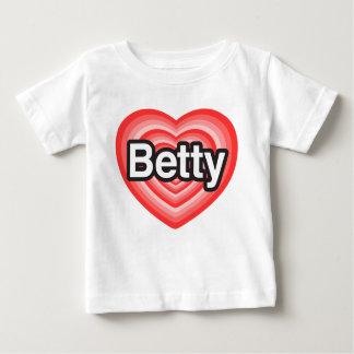 I love Betty. I love you Betty. Heart Baby T-Shirt