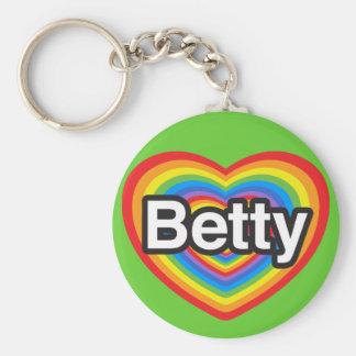 I love Betty. I love you Betty. Heart Keychain