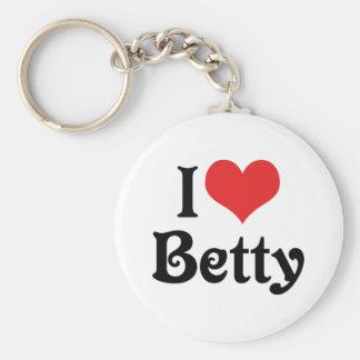 I Love Betty Key Chain