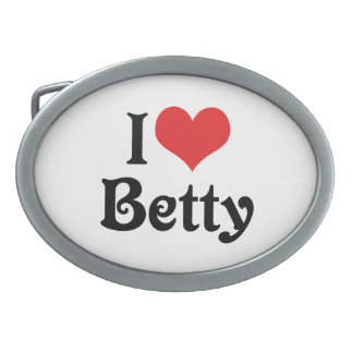 I Love Betty Oval Belt Buckle