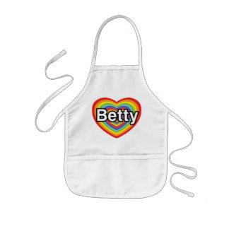 I love Betty: rainbow heart Kids' Apron