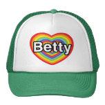 I love Betty: rainbow heart Hat