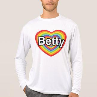 I love Betty: rainbow heart Tshirt