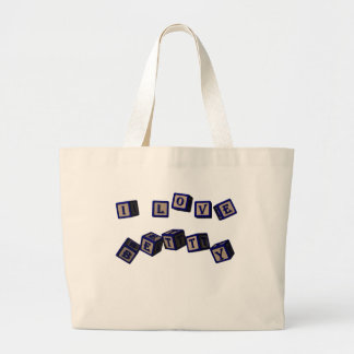 I love Betty toy blocks in blue. Bag