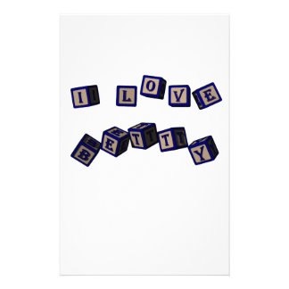 I love Betty toy blocks in blue. Stationery Design