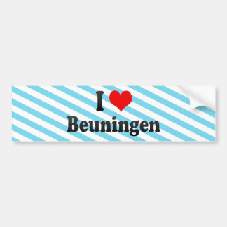 I Love Beuningen, Netherlands Bumper Sticker