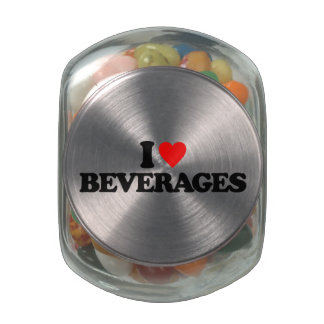I LOVE BEVERAGES JELLY BELLY CANDY JAR