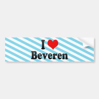 I Love Beveren, Belgium Car Bumper Sticker