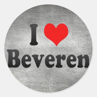 I Love Beveren, Belgium Classic Round Sticker