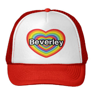 I love Beverley: rainbow heart Trucker Hat