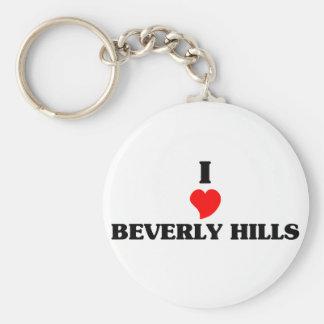 I love Beverly Basic Round Button Keychain