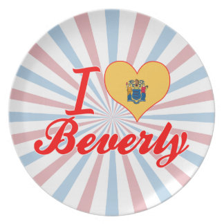 I Love Beverly New Jersey Plates