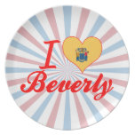 I Love Beverly, New Jersey Plates