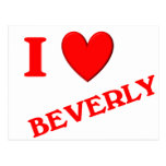 I Love Beverly Postcard
