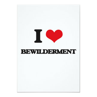 "I Love Bewilderment 5"" X 7"" Invitation Card"