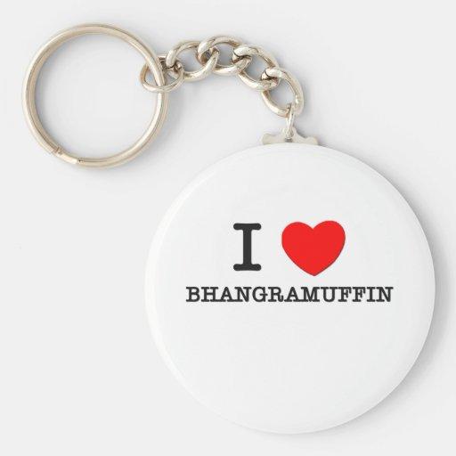 I Love Bhangramuffin Keychain