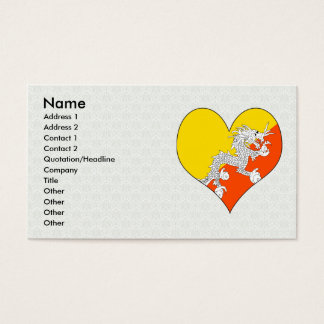 I Love Bhutan Business Card
