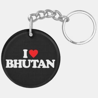 I LOVE BHUTAN ACRYLIC KEY CHAIN