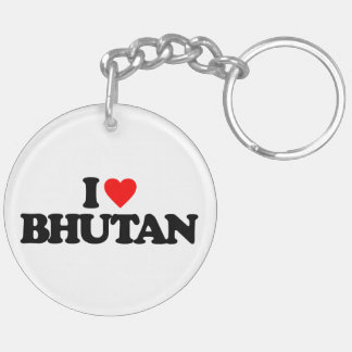 I LOVE BHUTAN ACRYLIC KEY CHAINS