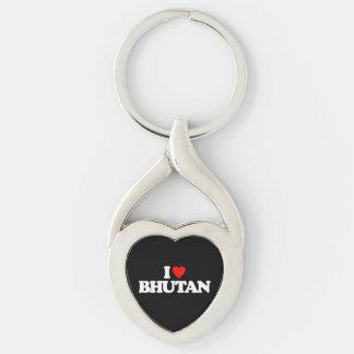 I LOVE BHUTAN KEYCHAINS