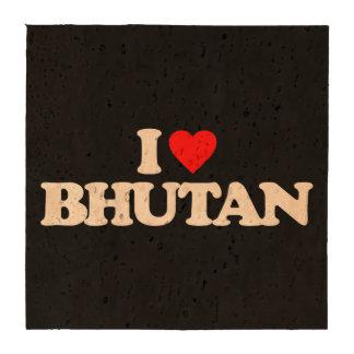 I LOVE BHUTAN DRINK COASTER