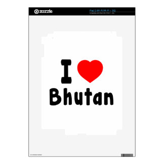 I Love Bhutan. iPad 2 Skins