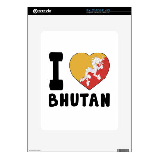I Love Bhutan Skins For The iPad