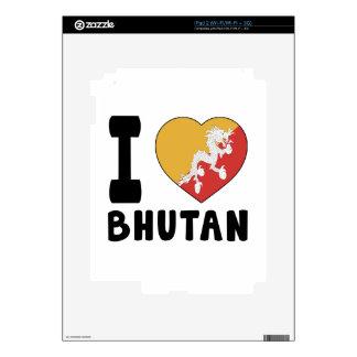 I Love Bhutan iPad 2 Decals