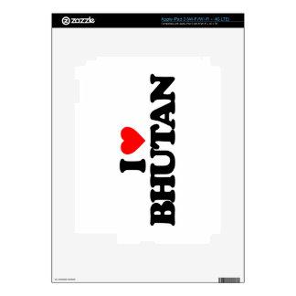 I LOVE BHUTAN SKIN FOR iPad 3