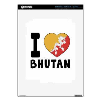 I Love Bhutan iPad 3 Skin