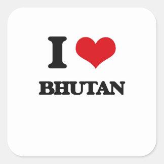 I Love Bhutan Stickers