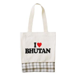 I LOVE BHUTAN ZAZZLE HEART TOTE BAG