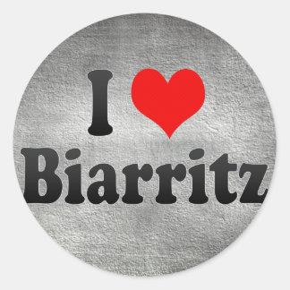 I Love Biarritz, France Classic Round Sticker