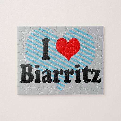 I Love Biarritz, France Jigsaw Puzzle