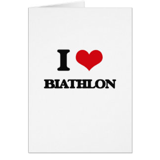 I Love Biathlon Greeting Card