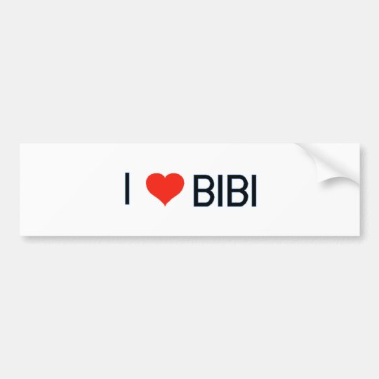 I Love Bibi Bumper Sticker