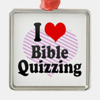 I love Bible Quizzing Metal Ornament