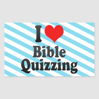 I love Bible Quizzing Stickers