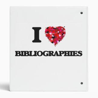 I Love Bibliographies 3 Ring Binder