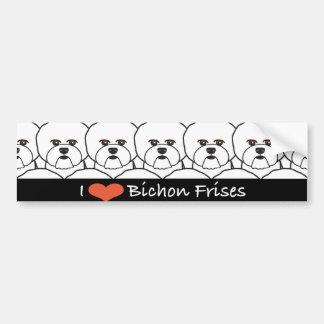 I Love Bichon Frises Bumper Sticker