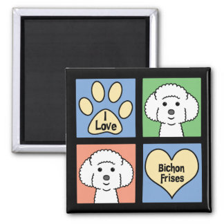 I Love Bichon Frises Fridge Magnet