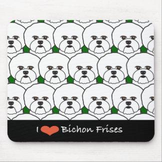 I Love Bichon Frises Mouse Pad