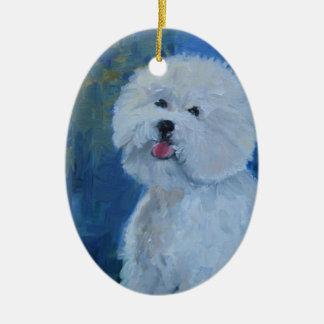 I Love Bichons Ornament