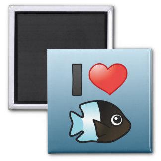 I Love Bicolor Damselfish Magnet