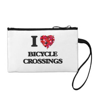 I Love Bicycle Crossings Coin Purses