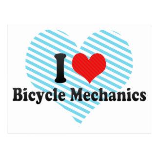 I Love Bicycle Mechanics Postcard