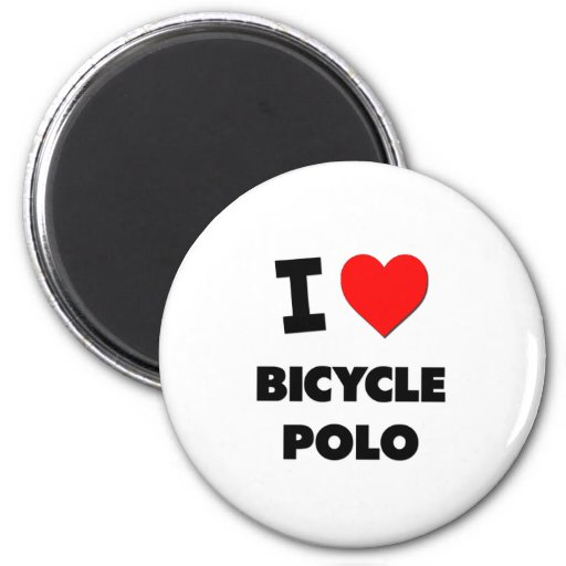I Love Bicycle Polo Magnet