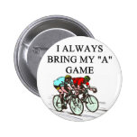i love bicycle racing 2 inch round button